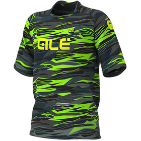 Alé Cycling Off-Road MTB Rock Maillot Manches courtes Homme, black/fluo green